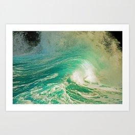 WAVE JOY Art Print