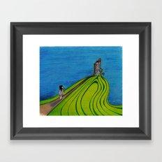 La colline Framed Art Print