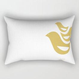 woodland friends- birds Rectangular Pillow
