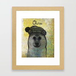 Ours (Bear) Framed Art Print