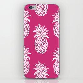 Pink yarrow inspired pineapples iPhone Skin