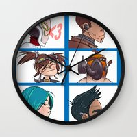 gorillaz Wall Clocks featuring Bandit Days by Philtomato