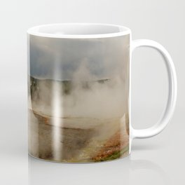 A Cloud Of Steam And Water Over A Geyser Coffee Mug