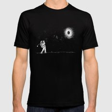 Black Hole in One Black LARGE Mens Fitted Tee
