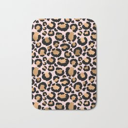 Animal print - pink copper Bath Mat
