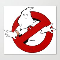 ghost busters Canvas Prints featuring kkk Busters by Komrod