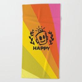 International Day of HAPPINESS Beach Towel