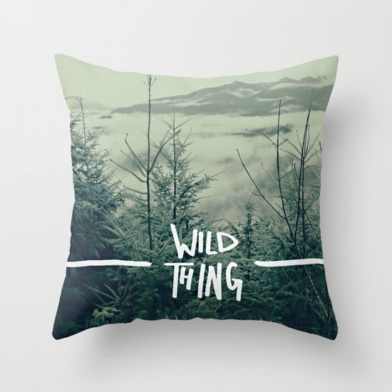 Wild Thing: Skagit Valley, Washington Throw Pillow
