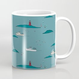 Lobstering in the Harbor Coffee Mug