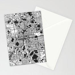 Orlando Map Gray Stationery Cards