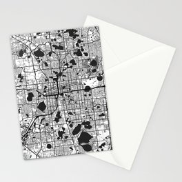 Orlando Map Gray Stationery Cards