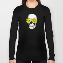 Skull and Roses | Pink and Yellow Long Sleeve T-shirt
