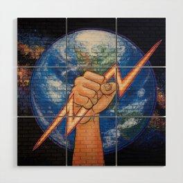 Earth Power (Mural at Battery Land, Gainesville FL Wood Wall Art