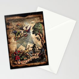 Medieval Minstrel Spirits Stationery Cards