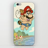 super mario iPhone & iPod Skins featuring Super Mario! by Ismael Álvarez