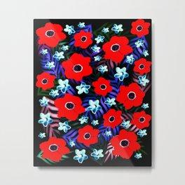 Poppies & Columbines Metal Print