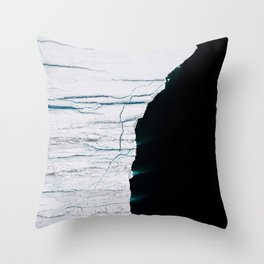 Black and White - Abstract minimal Iceberg aerial view in Greenland - Landscape Photography Throw Pillow
