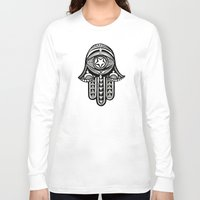 hamsa Long Sleeve T-shirts featuring Hamsa by ArikaDoe