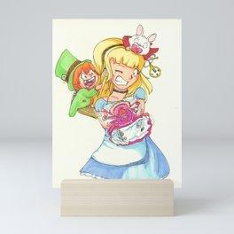 Babysitting in Wonderland Mini Art Print