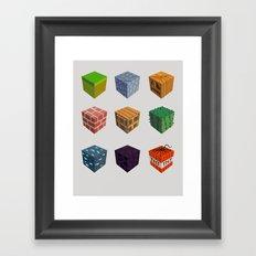 9 Blocks Framed Art Print
