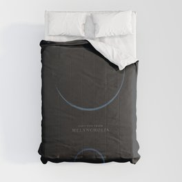 Melancholia, Lars Von Trier, minimalist movie poster Comforters
