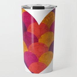 Purple Heart Tiles Travel Mug