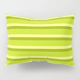 Lime Green Stripes Pillow Sham