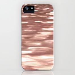 Rose gold copper shimmer iPhone Case