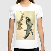 sharks T-shirts featuring Sharks by Jen Hallbrown