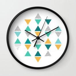 Triangles 1 Wall Clock