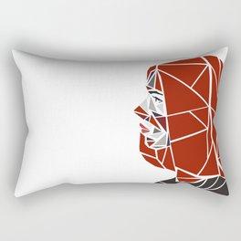 Natasha Romanoff Polygonal Design Rectangular Pillow