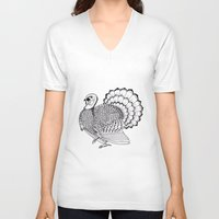 turkey V-neck T-shirts featuring Turkey by Martin Stolpe Margenberg