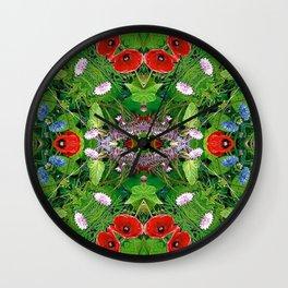 ornament flowers 2 Wall Clock