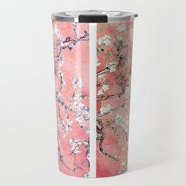 Vincent Van Gogh Almond Blossoms Panel Pink Peach Travel Mug