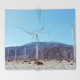 Palm Springs Windmills XI Throw Blanket