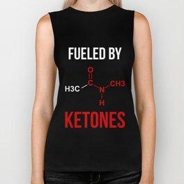 Fueled By Ketones Ketogenic Diet Biker Tank