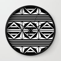 prism Wall Clocks featuring Prism by MANYOUFACTURE