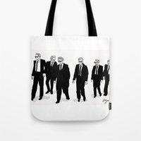 reservoir dogs Tote Bags featuring Reservoir Dogs. by AmyLianneMuir