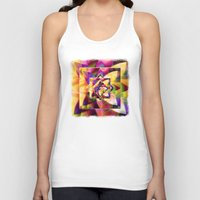 kandinsky Tank Tops featuring Number 1 Abstract by Mark Compton by Mark Compton