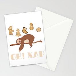 """OH! Nap""Merry Christmas Happy New Year December 25 T-shirt Design Xmas Holidays Season Stationery Cards"
