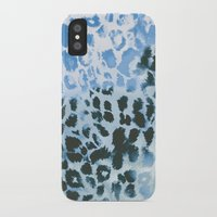 snow leopard iPhone & iPod Cases featuring Snow Leopard by Caleb Troy