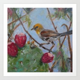 The Verdin in the Thicket Art Print