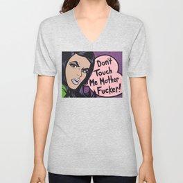 Don't Touch Me! Comic Girl Unisex V-Neck