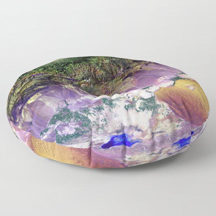 The Turpan Depression Floor Pillow