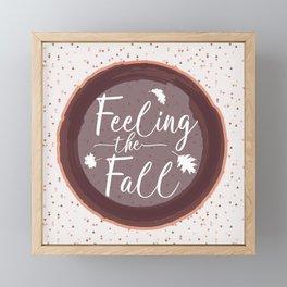 Feeling the Fall Framed Mini Art Print