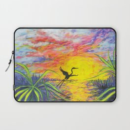 Sandhill Crane in the Sunset by annmariescreations Laptop Sleeve