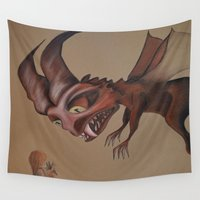 nightmare Wall Tapestries featuring Nightmare by Walko