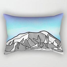 Mount Foraker Mountains Rectangular Pillow