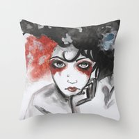 vendetta Throw Pillows featuring Vendetta by Valeri Prokopenko