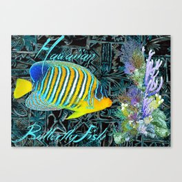 Hawaiian Butterfly Fish Canvas Print